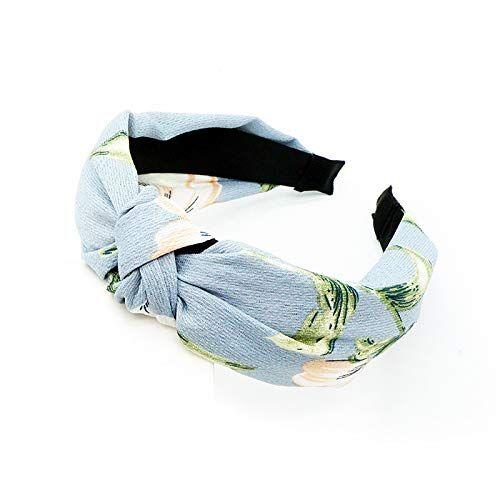 HAIMEIKANG - Fascia per capelli larga da donna, con nodo alla moda, elastica, accessorio per capelli per donne e ragazze