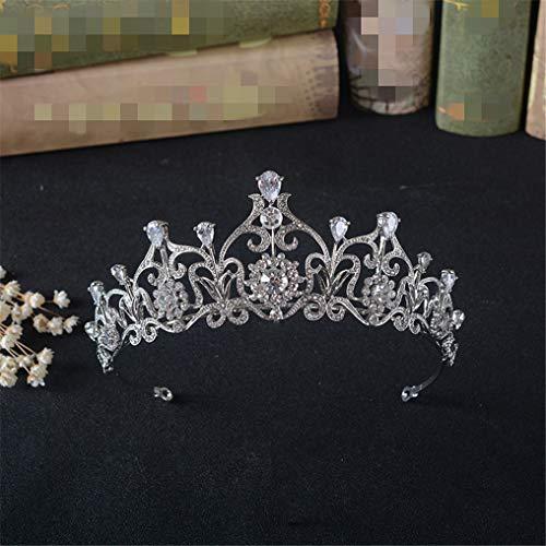Jonsdavien Elegante corona in lega di strass alla moda per fotografie, accessori per costumi da principessa, diadema, fascia per capelli