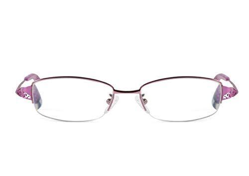 LJXWH Occhiali da lettura moda donna ultra-leggera protezione dalle radiazioni HD bloccanti occhiali blu (Colore : Purple, dimensioni : 1.5X)