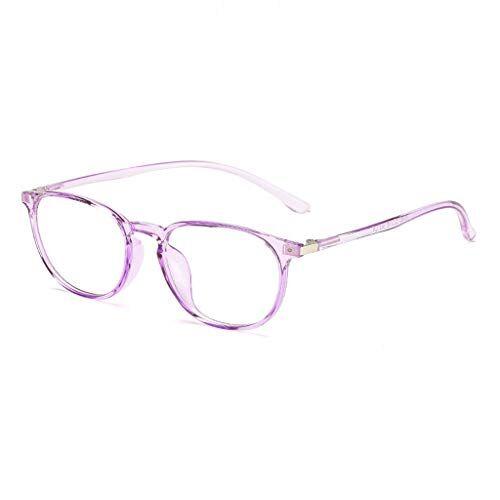 Occhiali KKY-ENTER Occhiali anti luce blu moda occhiali di sicurezza traslucidi per computer/telefono dormire meglio [anti affaticamento degli occhi] unisex (uomini/donne) (Color : Purple)