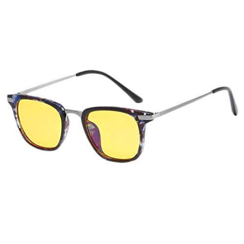 Occhiali KKY-ENTER Moda moderna anti blu luce occhiali occhiali di sicurezza per computer/telefono [anti affaticamento degli occhi] unisex (uomini/donne) (Color : F)
