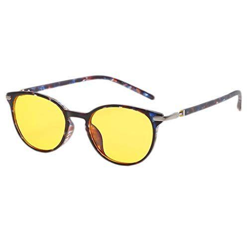 Occhiali KKY-ENTER Occhiali da sole anti blu luce occhiali per computer/telefono dormire meglio [anti affaticamento degli occhi] Occhiali da vista moda, unisex (uomini/donne) (Color : A)