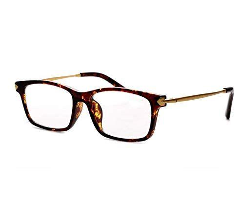 CHENGXINGF Full frame lettura chiara specchio ultras bicchieri di cristallo naturale uomini e le donne di moda luce occhiali da lettura (Color : Brown, Size : 3.0X)