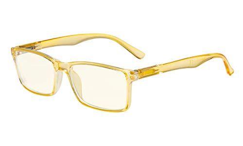 Eyekepper Occhiali per Computer - Filtro Luce Blu Lettori - Occhiali Protezione UV420 qualit alla moda cerniera a molla - Giallo