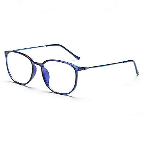 Occhiali KKY-ENTER Occhiali anti luce blu moda occhiali di sicurezza traslucidi per computer/telefono dormire meglio [anti affaticamento degli occhi] unisex (uomini/donne) (Color : Blue)
