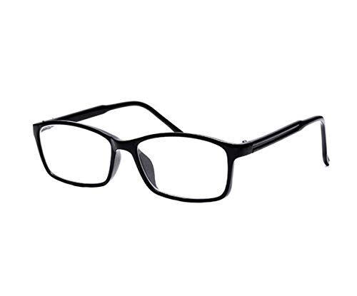 CHENGXINGF Bicchieri di cristallo naturale for uomini e donne ultras luce moda comodi occhiali da lettura della struttura completa chiaro specchio lettura (Color : Black, Size : 2.5X)