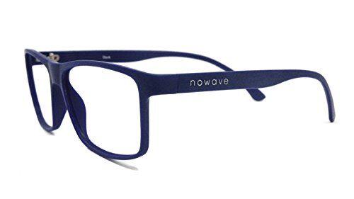 NOWAVE Occhiali neutri per PC, Tablet, TV e Gaming. Eliminano stanchezza e irritazione visiva. Montatura super leggera. Occhiali riposanti ANTI LUCE BLU 40% e UV 100%. Collezione Moda 2020   Dock