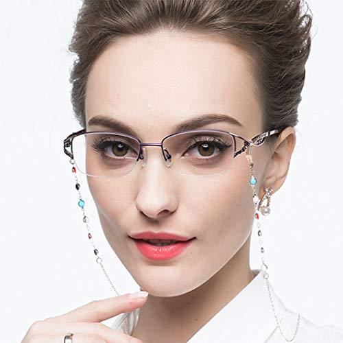 CHENGXINGF Collana occhiali da presbite, anti-vetri blu ad alta definizione luce femmina, moda-alta definizione vetri di lettura, antinebbia, anti-olio, protezione degli occhi, lenti resina
