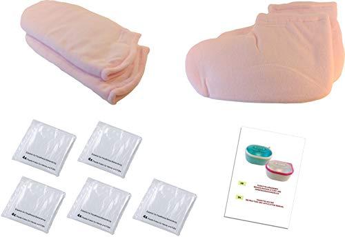 liliet accessori per bagno paraffina: 2x guanti, 2x fuesslinge, 20x pellicole usa e getta, paraffina di bad,-trattamento-terapia,-cura, scarpe da calcio,-calzini, fogli di plastica, set, kit