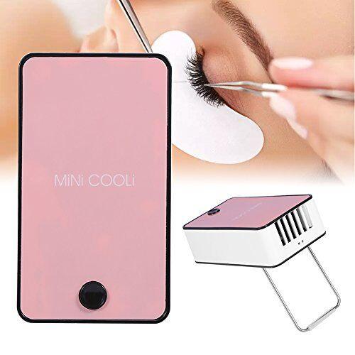 betued mini ventilatore,ventilatore portatile usb mini ventilatore per condizionatore per ciglia innestate estensione ciglia (rosa)