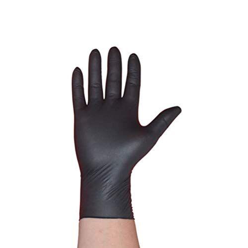 topbathy, guanti usa e getta per la protezione delle mani, senza polvere, guanti per esami, gioielli, tatuaggi, guanti da giardino e lavori domestici (taglia l)