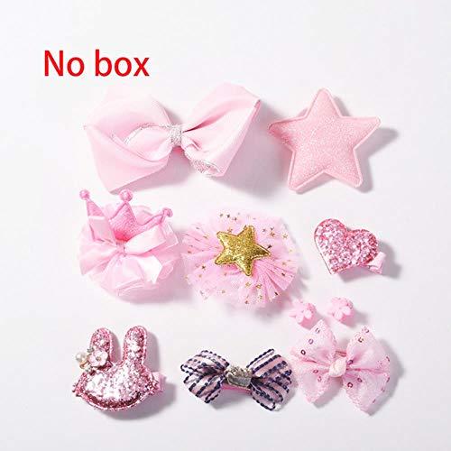 jiangyanyiliao 10 / box set bebé bambino carino nastro per capelli cerchio dei capelli tessuto fiore capelli clip,nessuna scatola - rosa