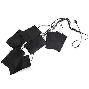 Hakeetaa 8in1 pad riscaldante elettrico inverno USB portatile esterno morbido per vestiti termici