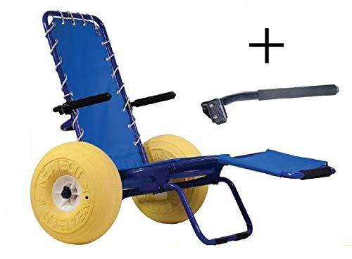 neatech sedia a rotelle da mare e spiaggia - con braccioli inclusi - neatech mod. job