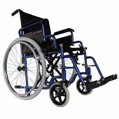 intermed sedia a rotelle/carrozzina disabili ad autospinta pieghevole - doppia crociera - intermed mod. practica pn - gomme piene - dim. seduta 45 cm