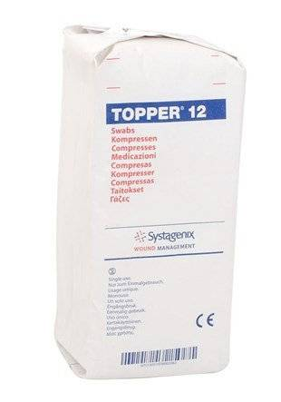 topper 12 non-sterile swabs (7.5cm x 7.5cm 6ply) by topper 12