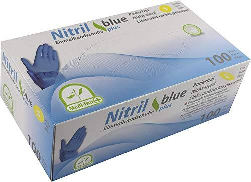 medi-inn usa e getta monouso guanti nitrile blue plus senza polveri s m l xl di medi-inn (small (6-7))