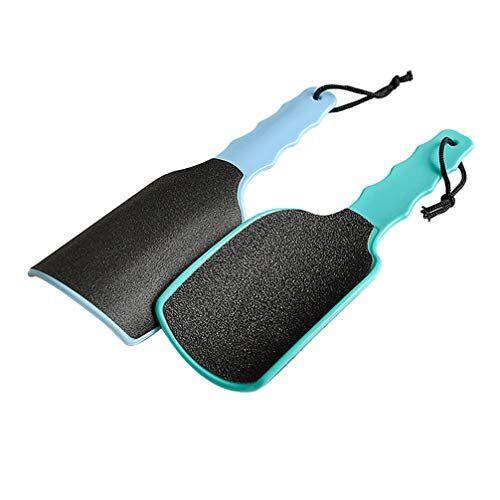 minkissy lavasciuga rimozione del callo della lima del piede 2pcs strumenti di pedicure della lava del piede raspa lima professionale per la cura del piede asciutto e bagnato (colore casuale)