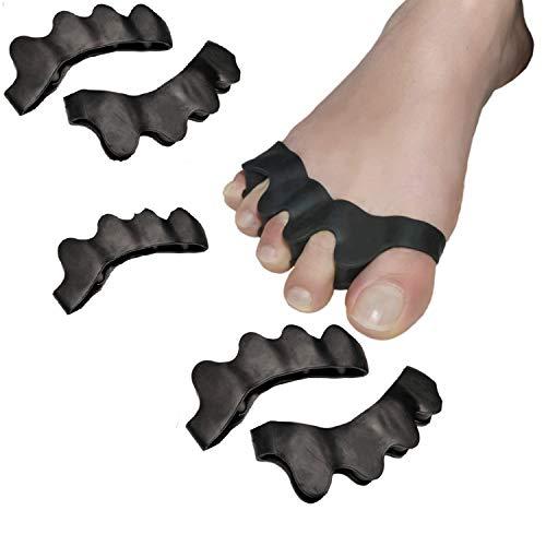 salefun 6 x alluce valgo dita distanziatori per dita dita dita dita per uomo e donna  protezione per palloni anche per scarpe  correzione dita martellate  imbottitura per palloni da calcio i sovragambo