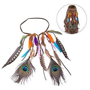 frcolor penna della testa penna di pavone matrimonio de la boda Headband accessori per capelli