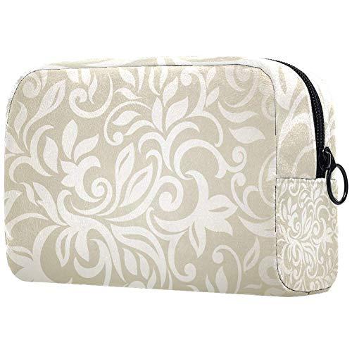 DEDEF Marroni impronte di zampe cosmetici borsa da donna, adorabile e spaziosa trousse da viaggio impermeabile per articoli da toeletta accessori organizer bradipo regalo