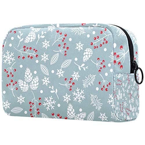 DEDEF Trousse da viaggio con ciliegie e foglie, per articoli da toeletta e da viaggio, collezione di accessori per gioielli, borsa a strato singolo per donne