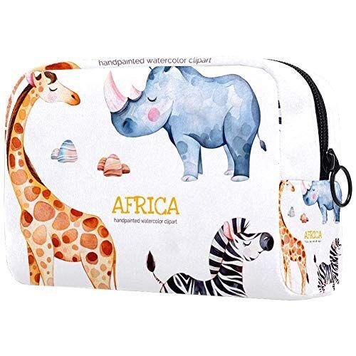 TIZORAX Africa Watercolor Set di cosmetici borsa organizer da viaggio per accessori, shampoo, contenitore di dimensioni standard, articoli da toeletta