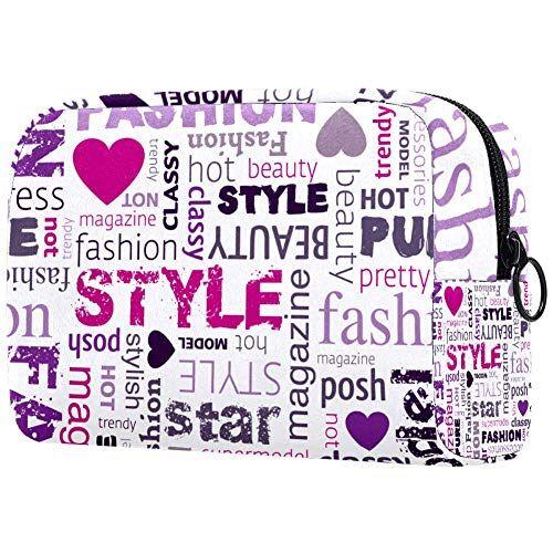DEDEF Moda Illustrazione Borsa da toilette, elegante borsa da viaggio per il trucco con porta pennelli per le donne Organizer cosmetico carino