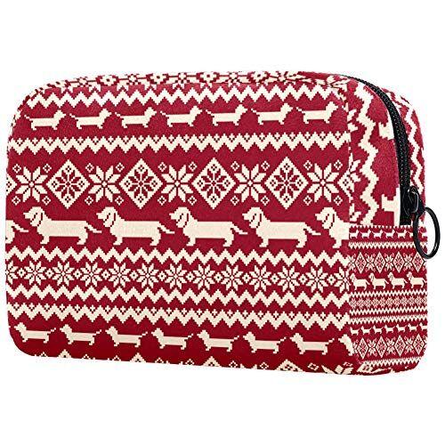 TIZORAX Salsiccia cane e fiori cosmetici borsa organizer da viaggio per accessori, shampoo, contenitore di dimensioni standard, articoli da toeletta
