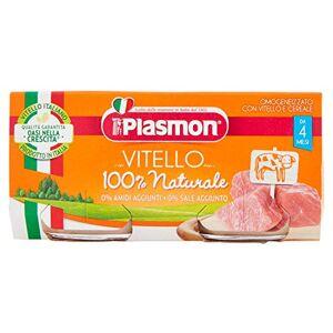 Plasmon Omogeneizzato con Vitello e Cereale dal 4 Mese, 160g