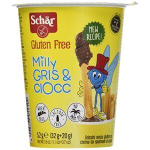 Schar Milly Gris & Ciocc Grissini senza Glutine con Crema da Spalmare al Cacao 52 G
