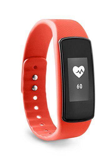 ade am1704 activity tracker fitvigo. braccialetto fitness con app multipremiata per android o iphone. pedometro, frequenza cardiaca, contacalorie, sleep tracker. cinturino di ricambio e batterie incl.