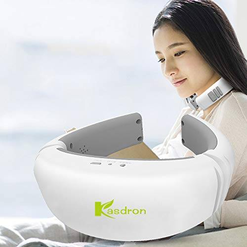ouzigrt fba-004 - massaggiatore cervicale elettrico per il massaggio della sfigmoterapia del collo con massaggiatori cervicali pulsati multifrequenza di calore