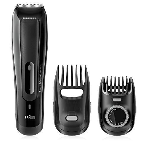 braun regolabarba uomo bt5070 rasoio elettrico uomo, tagliacapelli, barba ottima grazie agli intervalli di lunghezza da 0.5mm