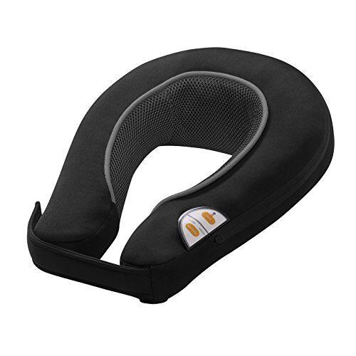 medisana nm 865 massaggiatore per collo a vibrazione con funzione di riscaldamento, 2 intensit, massaggiatore senza fili per il viaggio, con pannello di controllo integrato