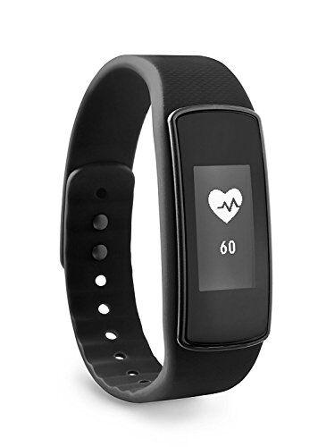 ade am1700 activity tracker fitvigo. braccialetto fitness con app multipremiata per android o iphone. pedometro, frequenza cardiaca, contacalorie, sleep tracker. cinturino di ricambio e batterie incl.