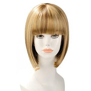 World WigsParrucca Blonde a punte quadrato Mi-longue a immersione con frange