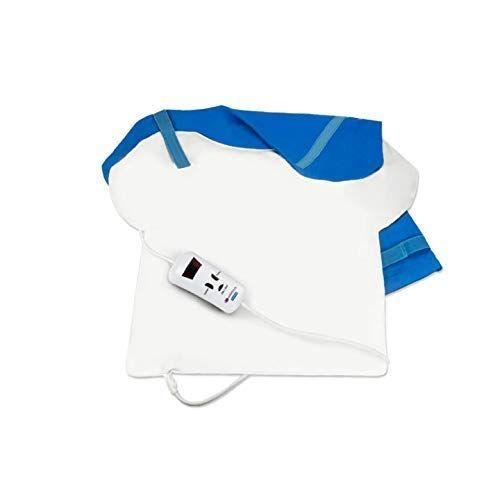 pekatherm  termoforo elettrico per schiena, collo e spalle con riscaldamento rapido in 15s   cuscino termico per cervicale 4 livelli di temperatura, autostop 2 ore