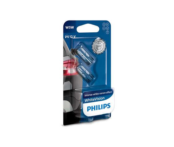 Philips Coppia Lampade White Vision W5w Philips