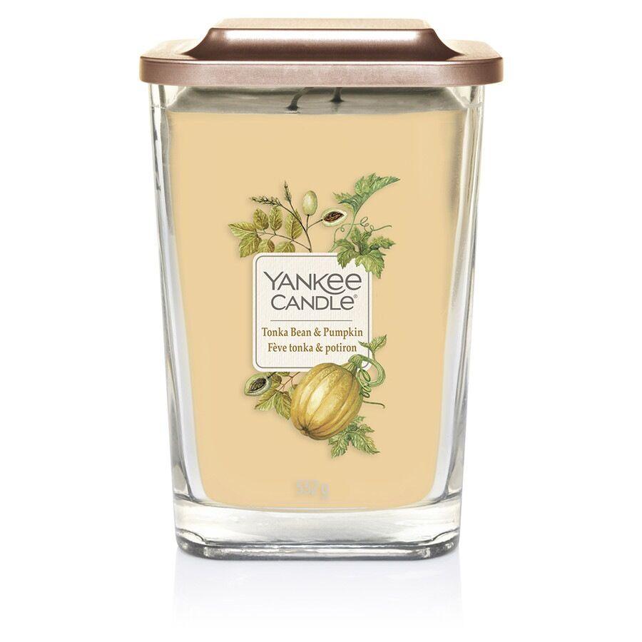 Yankee Candle Grande 2 Stoppini Candele Profumate Tonka Bean & Pumpkin Candela 552g