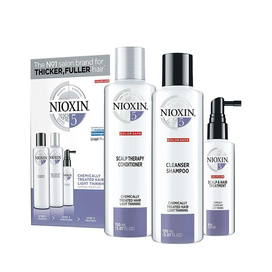 Nioxin Sistema 5 Kit Trifasico Maxi Cofanetto Trattamento Capelli
