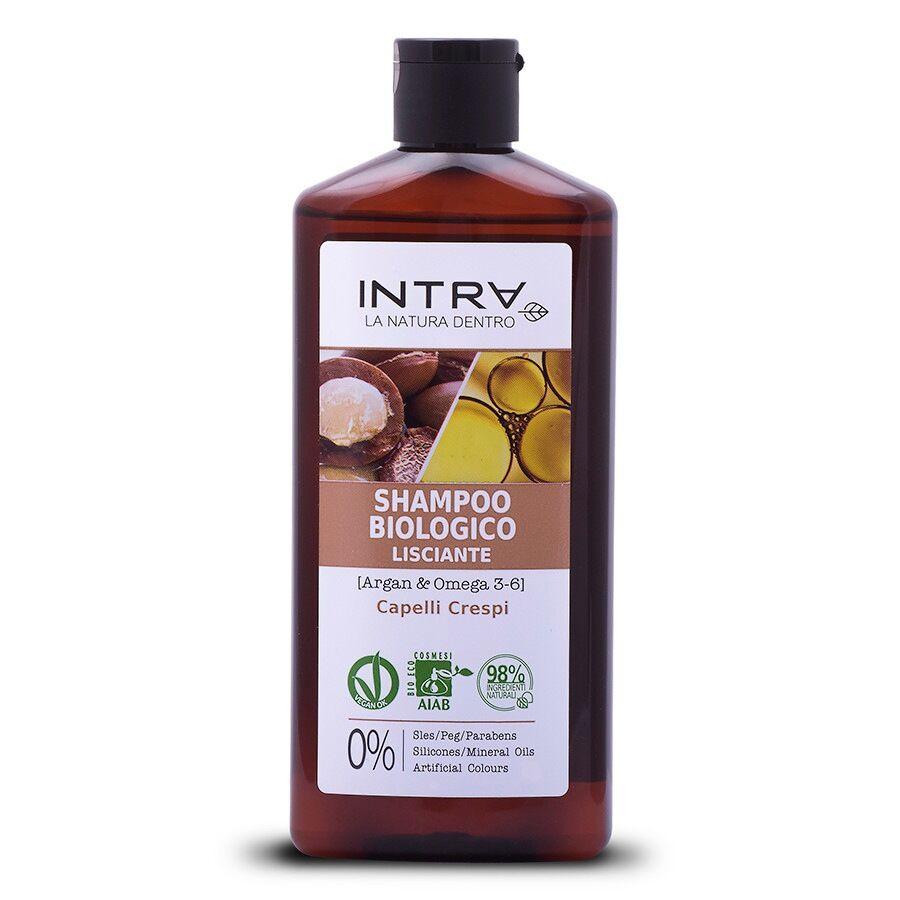 intra argan & omega 3-6 shampoo biologico lisciante shampoo capelli 250ml