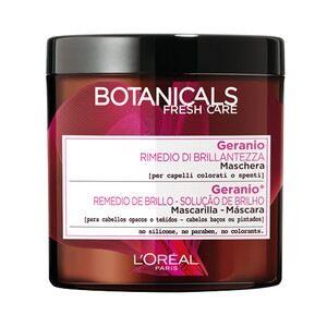 l'oréal paris botanicals, maschera per capelli colorati o spenti, rimedio di brillantezza, rosa e geranio, maschera capelli 200ml