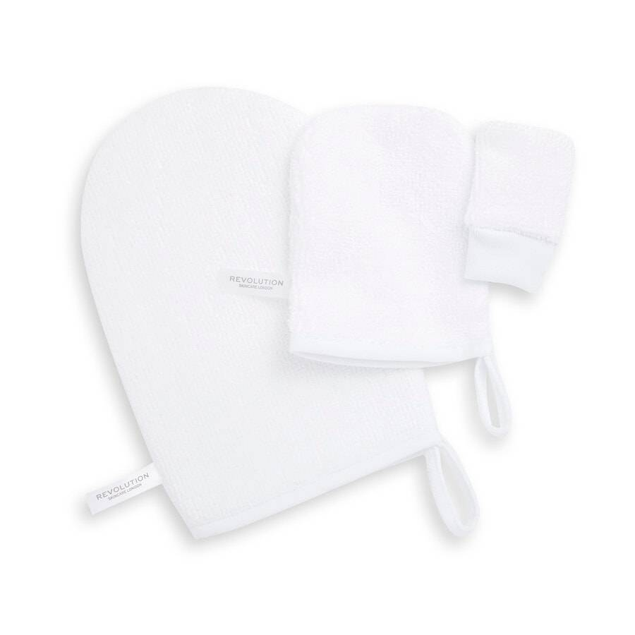 revolution skincare reusable soft cleansing mitts guanto struccante