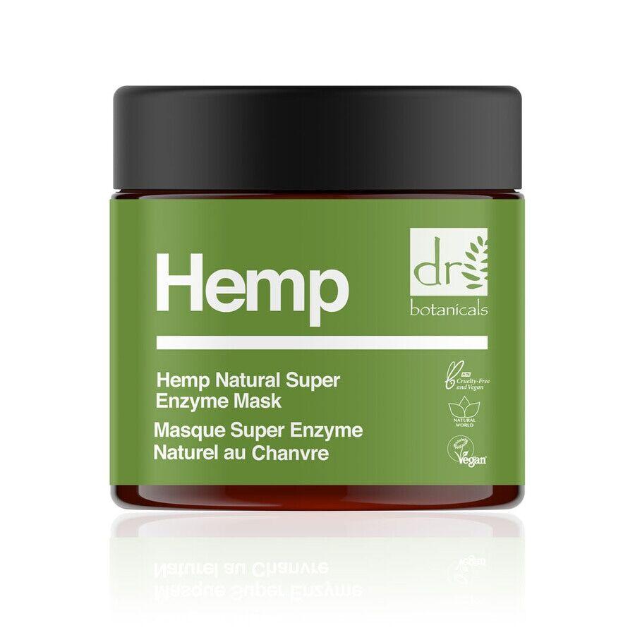 dr botanicals hemp infused super natural enzyme mask maschera viso 60ml
