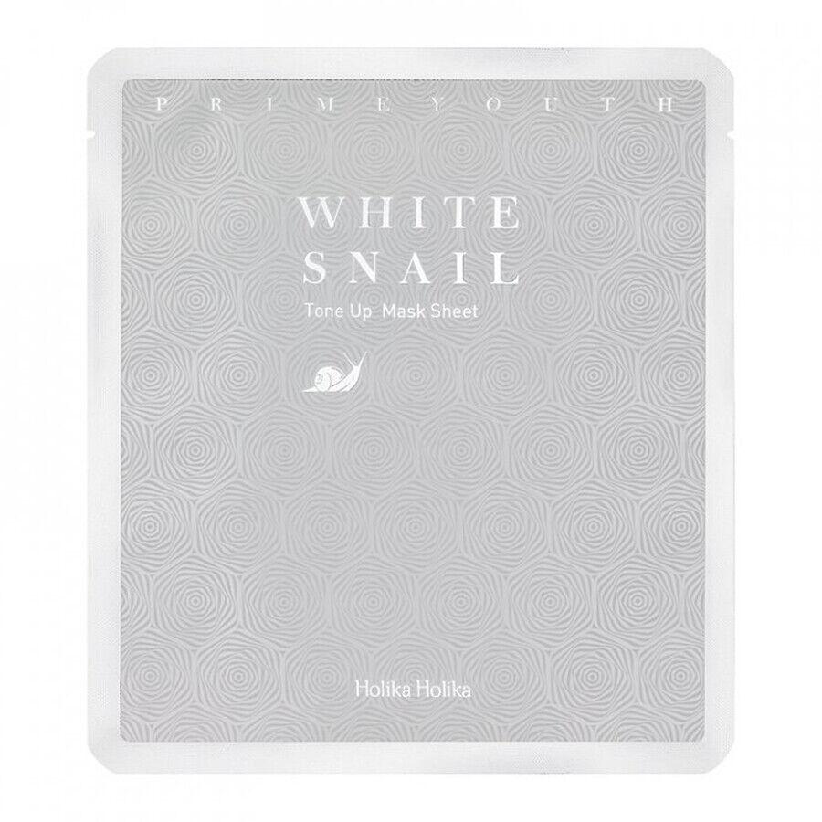 holika holika prime youth white snail tone up mask sheet maschera viso 25g