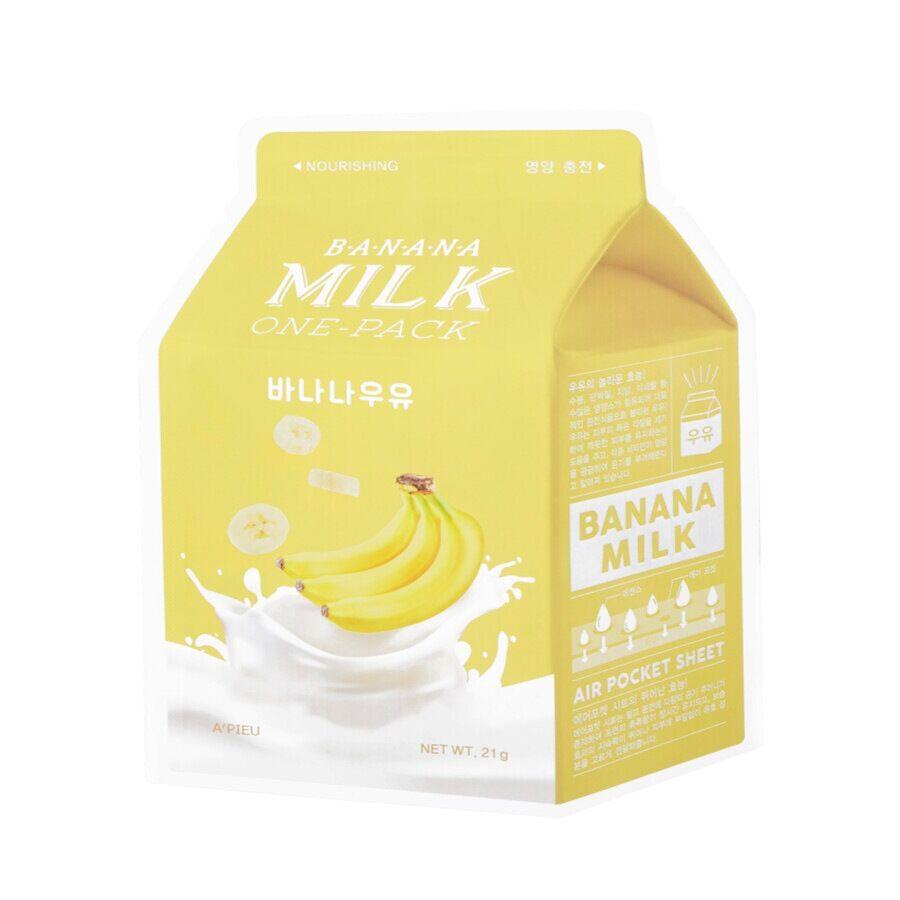 a'pieu milk one-pack banana sheet mask maschera viso 21g