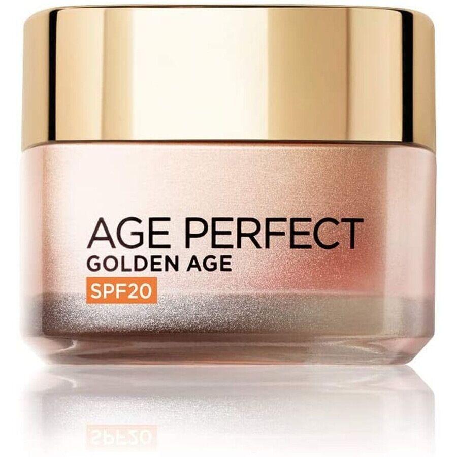 l'oréal paris age perfect golden age, azione anti-età per pelli mature, spf 20 crema viso 50ml