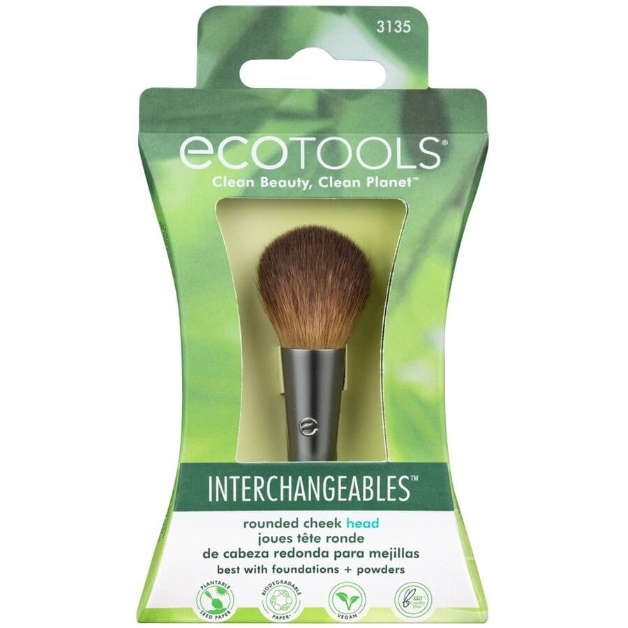 ecotools rounded cheek head pennello make up 13g