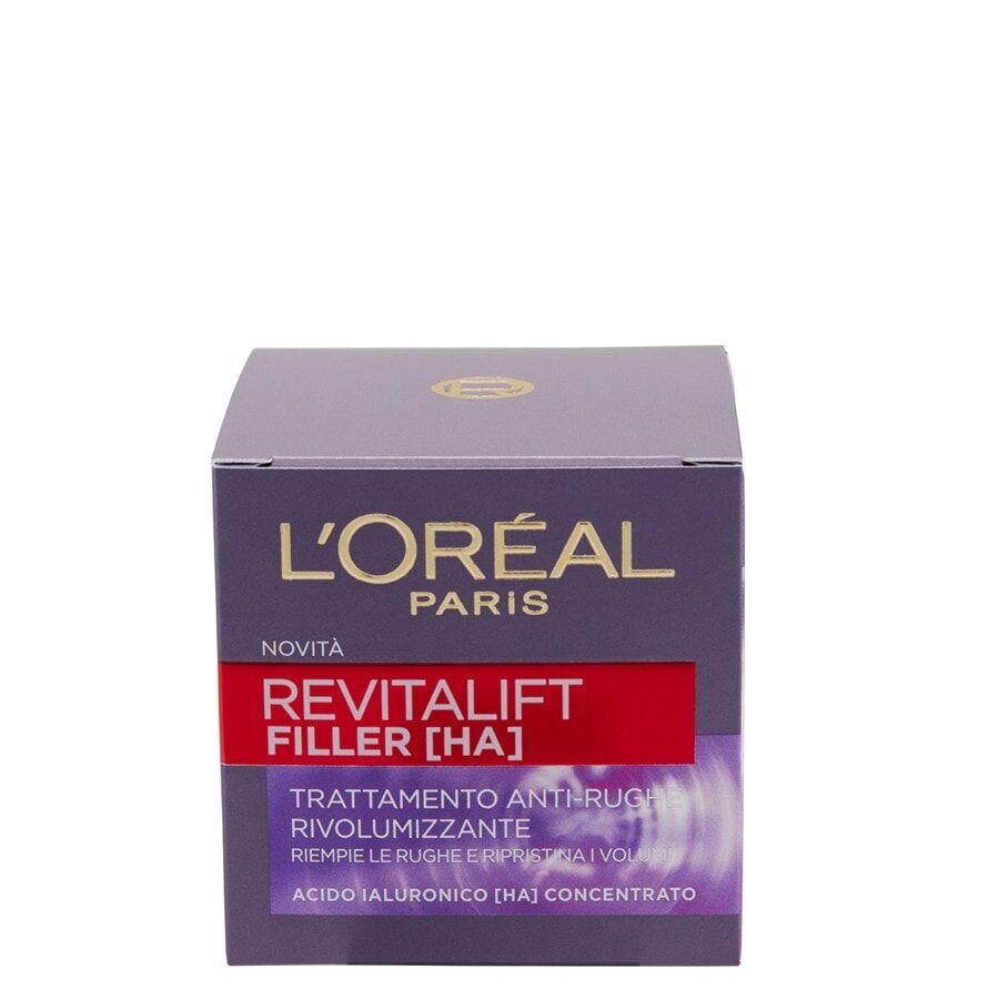 l'oréal paris revitalift filler, azione antirughe rivolumizzante con acido ialuronico concentrato, crema viso 50ml